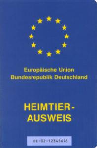 Für Reisen innerhalb der EU ist der einheitliche Heimtierausweis Pflicht.